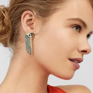 New Baublebar Zazu Fringed Parrot Drop Earrings